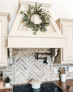 Not the over all kitchen style, but i love the white brick backsplash Kitchen Backsplash Designs, Home Decor Kitchen, Kitchen Remodel, Home Remodeling, Home Kitchens, Farmhouse Kitchen Design, Kitchen Style, Kitchen Renovation, Kitchen Design