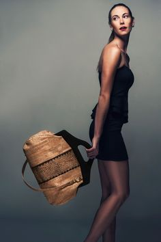 Fifi Carry All in Embossed Cork www.jessrizzuti.com. Eco-friendly. Made in USA