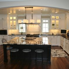 Painted Custom Kitchen Cabinets Design