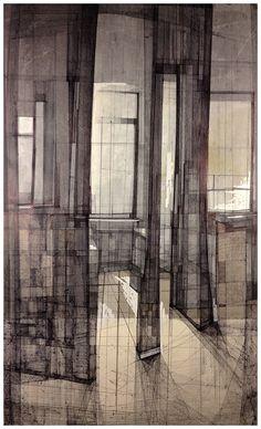 Megan McGlynn architectural drawing, pen and ink www.meganmcglynn.com