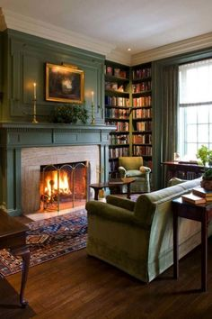 Living Room Ideas Classic - Comfortable Master Living Room For Winter - Living Room Furniture & Ideas Winter Living Room, Living Room With Fireplace, Cozy Living Rooms, My Living Room, Home And Living, Living Room Furniture, Library Fireplace, Furniture Nyc, Furniture Stores