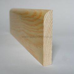 Listwa przypodłogowa z drewna litego cokół malowana sosna bezbarwna 1,8x9cm Sklep Drewna