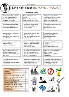 Let's Talk about CLIMATE CHANGE worksheet - iSLCollective.com - Free ESL worksheets