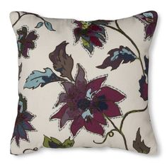 Threshold™ Embroidered Floral Pillow - Cool