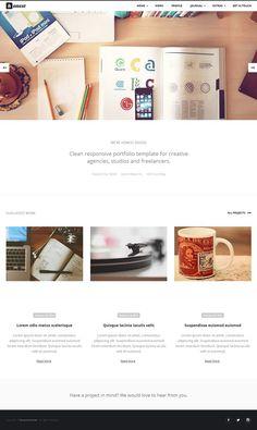 Honest : Clean Responsive Portfolio+Blog Template #html5templates #responsivedesign #psdtemplates #uidesign #ux