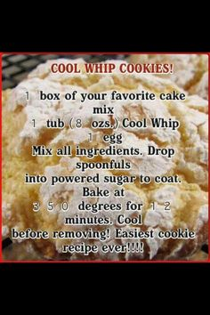 Easy cookie recipe for any time of the year . Can be made with sugar free cake mix and sugar free cool Whip! Galletas Cookies, Candy Cookies, Cake Mix Cookies, Cookies Et Biscuits, Holiday Cookies, Easy Christmas Cookies, Pudding Cookies, Baking Cookies, Sandwich Cookies