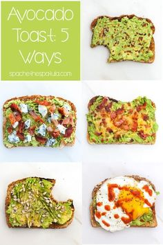 Avocado toast can be so much more interesting that just toast + avocado; check out these 5 awesome variations on the classic!