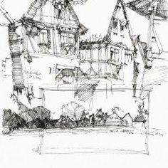 How to draw buildings and houses