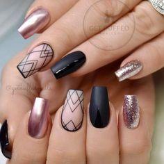 591 Best Coffin Nails Images On Pinterest Fingernail Designs Cute