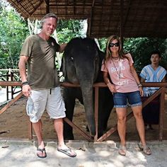 Amie and I loved feeding this baby Elephant in #Thailand! #ThrowbackThursday #TBT #ScottYancey