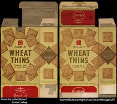 Nabisco - Wheat Thins (Toasted) - 10 1/2 oz snack cracker box - 1940's  1950's | by JasonLiebig