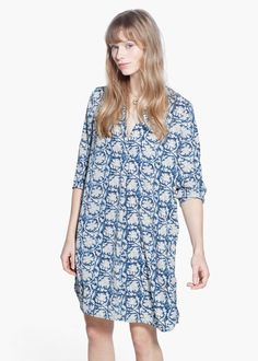 Mango Flowy Shirt Dress   Community Post: 23 Super-Cute Dresses You Can Rock Without Breaking The Bank