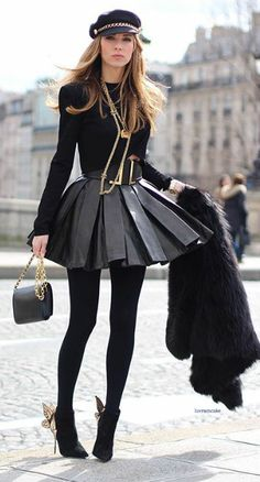 Find Your Spring 2016 Style Inspiration In The Streets Of Paris Classy Outfits, Chic Outfits, Fall Outfits, Black Outfits, Looks Adidas, Street Chic, Street Style, Street Fashion, Street Wear