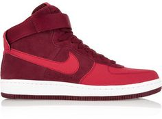 Nike Air Force 1 Ultra Force Mid Suede And Leather Sneakers #ad