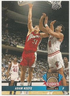 Adam Keefe 1992-93 Upper Deck Rookie Standouts Atlanta Hawks Insert Card RS1 ** Read more reviews of the product by visiting the link on the image.