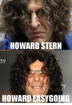 Howard Stern Another one I can't tolerate, but his is quite funny. Celebrity Name Puns, Punny Puns, Funny Posts, It's Funny, Hilarious, Bad Puns, Movies And Tv Shows, I Laughed, Stars