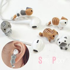 NOTICE: Price is for a kitty and wire fix holder clip only, NOT with the earphone! Material: made of TPE Color: Yellow/White Cat White/Grey Cat Yellow/Grey/White Cat Grey Cat Brown Cat Kawaii Jewelry, Kawaii Accessories, Cell Phone Accessories, Cat Headphones, Grey And White Cat, Black Cats, Accessoires Iphone, Brown Cat, Cat Climbing