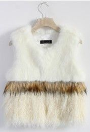 Wild at Heart Faux Fur Vest in White