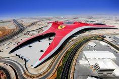 World& Largest Indoor Theme Park. An incredible architectural feat Ferrari World Abu Dhabi is the world's largest indoor theme park. Ferrari World Abu Dhabi, Scarborough Castle, Sport Park, Ferrari California, Construction, Adventure Awaits, Virtual Tour, Cool Photos, Amazing Photos