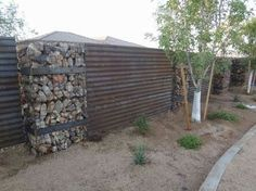 project images and description for corrugated metal fence u0026 gabion baskets project by natina steel products