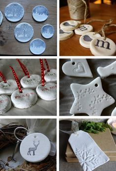 DIY salt dough or cornstarch ornaments. and much more from…