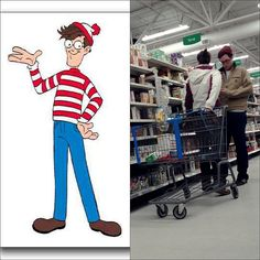 Where's Waldo? Waldo Shops at Walmart!!!!!!