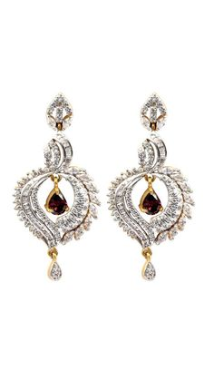 Buy Waama Jewels Stunning Diva Cubic Zirconia Alloy Drop Earring, bollywood, valentines day gift, jewellerys, Earring Wear in patry, beautifull, dangle earring wje124 Online at Low Prices in India - Paytm.com