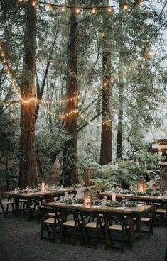 25 Whimsical Woodsy Forest Wedding Reception Ideas for 2019 Trends - Page 2 of Forest Wedding Reception, Dream Wedding, Forest Wedding Decorations, Table Wedding, Wedding Ceremony, Wedding Venues, Nordic Wedding, Scandinavian Wedding, Woodland Wedding Inspiration