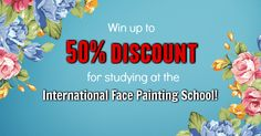 Do you want to become a student at the International Face Painting School? But what if your budget is tight…? This is YOUR CHANCE to enroll for the best price ever! Sign up for the game, invite your face painting mates to join it and obtain the DISCOUNT THAT YOU WANT!🙀🎁😃