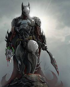 Quelque part dans une ville alternative, Gotham City . Le Joker Batman, Batman Armor, Arte Dc Comics, Dc Comics Art, Batman Concept, Batman Redesign, Batman Kunst, Batman Wallpaper, Superhero Design