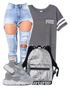 A lil sparkle by prettyeyesz on Polyvore featuring polyvore, fashion, style, NIKE, Victoria's Secret and clothing