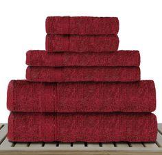 Sandra Venditti 6 Piece Bamboo Towel Set
