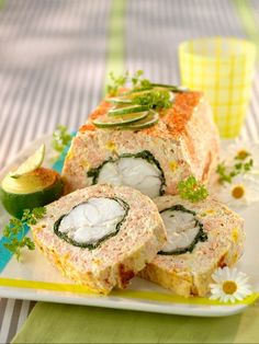 Monk fish and salmon terrine with spinach