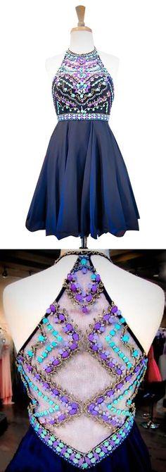 unique prom dresses, rhinestone homecoming dresses #SIMIBridal #promdresses