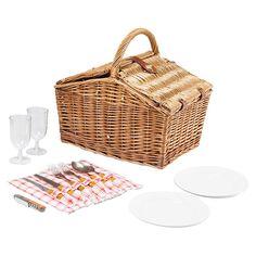 12 Piece Piccadilly Picnic Basket Set