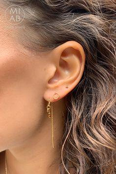 #MIAB #oorbellen #set #chain #inspiratie  #edelstenen #tigereye Minimal Jewelry, Jewerly, Body Art, Diamond Earrings, Style Me, Fashion Beauty, Make Up, Watches, Detail