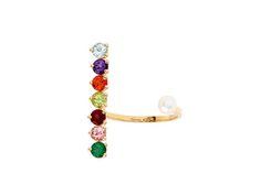 Topaz, peridot, pearl and gold ring from Delfina Delettrez