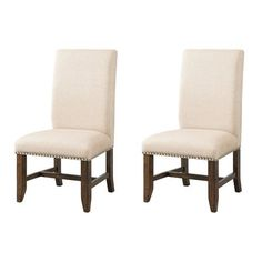 Picket House Francis Fabric Back Side Chair Set, White