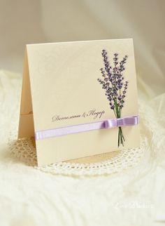 Lavender Wedding Invitation by LoveBlanketWedding on Etsy