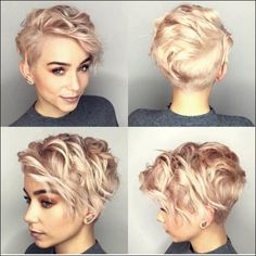 10 latest short haircut for fine hair and stylish short hair color trends - madame hairstyles, Prom Hairstyles For Short Hair, Haircuts For Fine Hair, Haircuts With Bangs, Undercut Hairstyles, Summer Hairstyles, Cool Hairstyles, Shaved Hairstyles, Short Undercut, Haircut Short