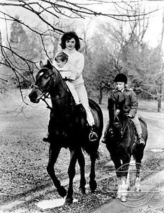 """Jackie Kennedy with John Jr. & Caroline  """"If you mess up your children, nothing else you do really matters.""""-  Jackie Kennedy"""