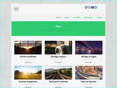 20 Free Responsive HTML Photography Template