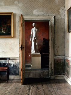 Statue at Henrietta Street - Romantic Irish Homes by Robert O'Byrne and photographer Simon Brown. Interior Architecture, Interior And Exterior, Interior Design, Brown Interior, French Interior, Classical Architecture, Home Design, Wabi Sabi, Belle Photo