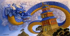 Chinese Dragon by Jeff Crosby File Share, Chinese Dragon, Children's Book Illustration, Mythology, Childrens Books, Sonic The Hedgehog, Fantasy Art, Dragons, Fictional Characters