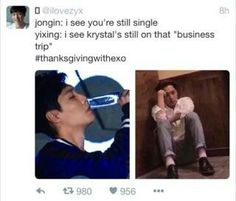 Kai doesn't care he had Kyungsoo let her ass stay on that business trip