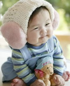 Ridiculously adorable Asian baby!