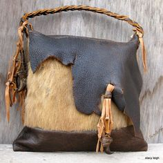 Last Frontier Bag made with bear and bison by Stacy Leigh on Etsy