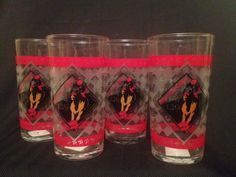 Set Of 4 2003 Kentucky Derby 129 Official Mint Julep Bar Glass Glasses
