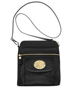 Emma Fox Genuine Leather Front Pocket Crossbody (Black) None Crossbody Messenger Bag, Leather Crossbody, Leather Handbags, Emma Fox, Fox Bag, Cross Body Handbags, Handbag Accessories, Fashion Bags, My Style