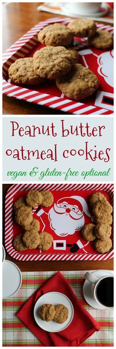 Peanut butter oatmeal cookies recipe from But My Family Would Never Eat Vegan by Kristy Turner + Review & giveaway | cadryskitchen.com